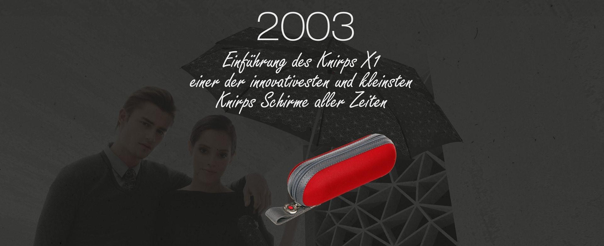 2003-Knirps-X1-der-innovativste-Taschenschirm-mit-Hardcasre