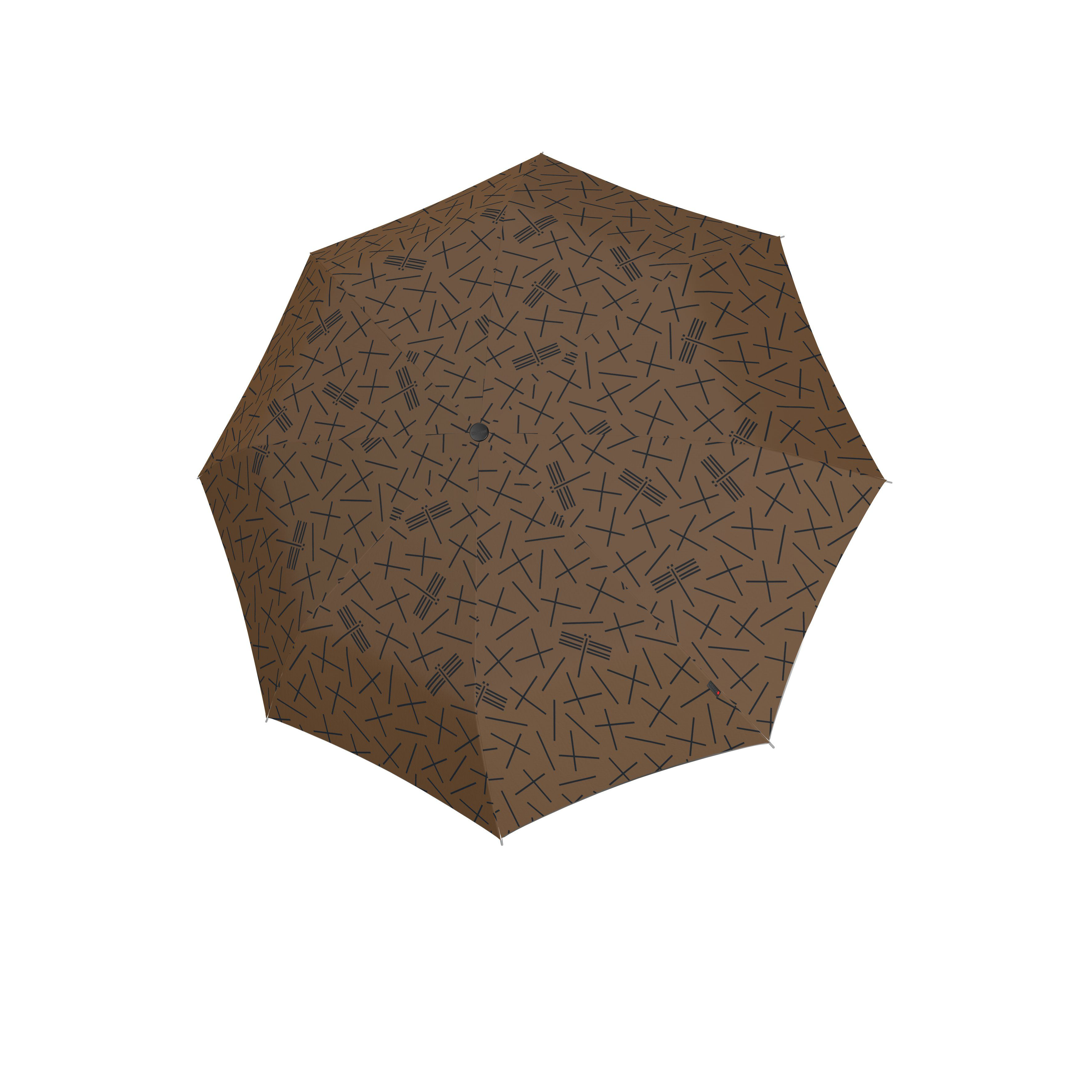 Knirps Umbrella Knirps T.200 medium duomatic NUNO tombo earth ecorepel with UV Protection