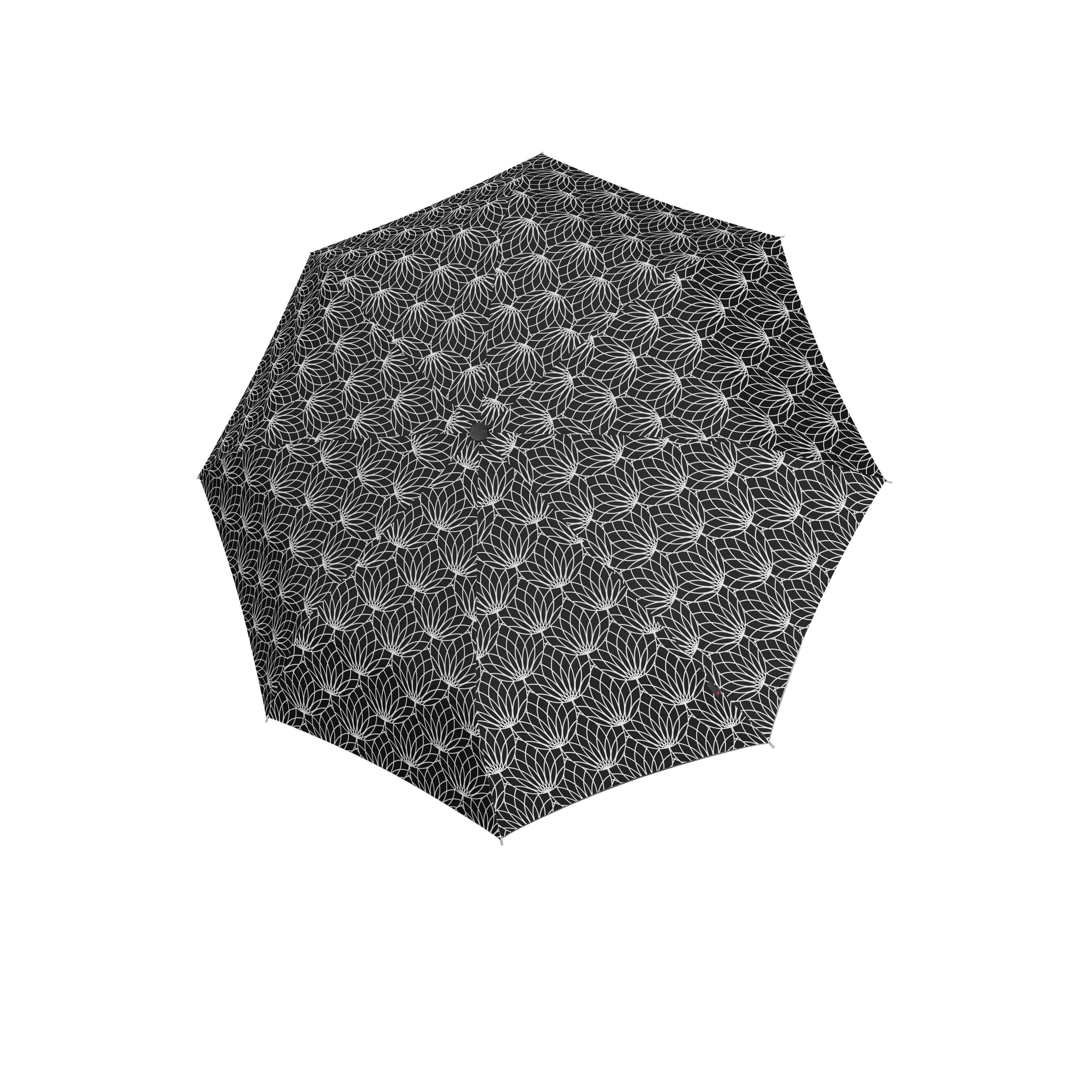 Knirps Umbrella Knirps T.200 medium duomatic renature black ecorepel with UV Protection