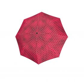 Knirps T.200 medium duomatic regenerate red with UV Protection